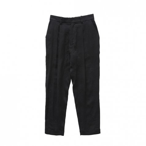 linen tuck pants black - adult