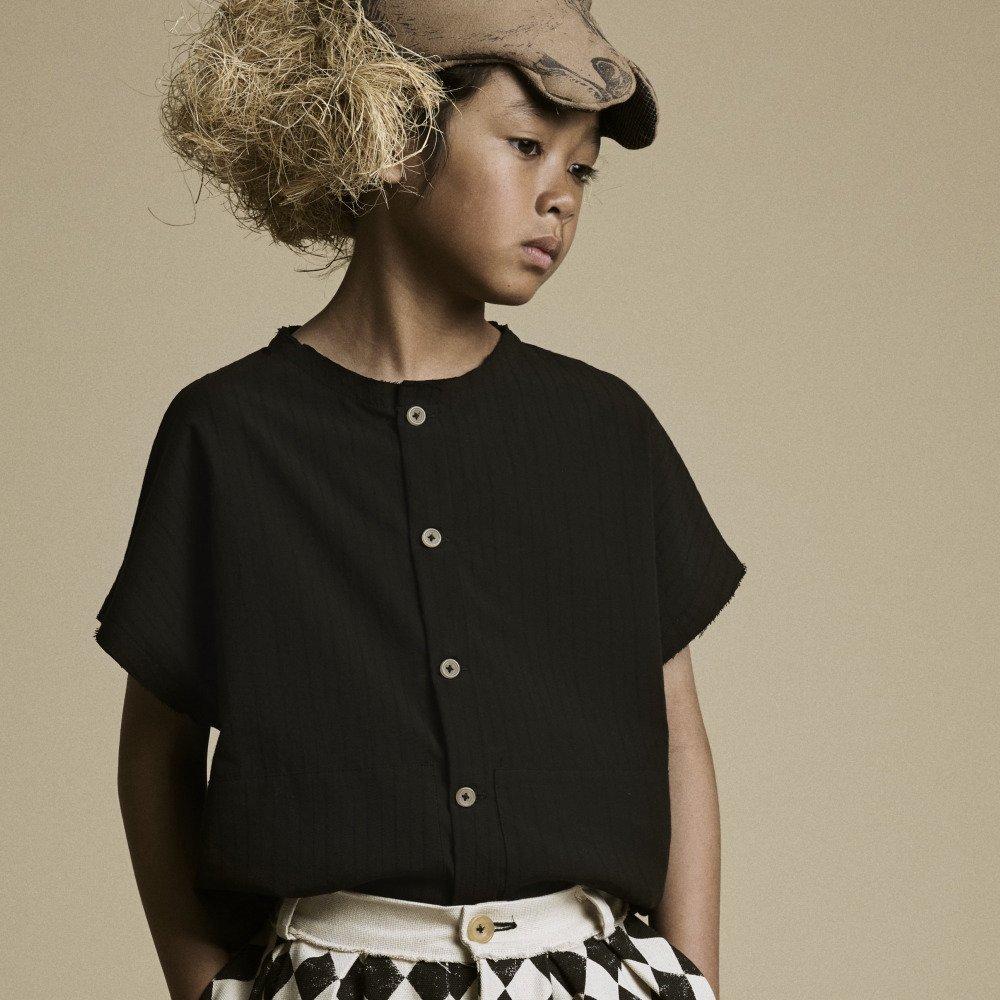 【20%OFF】Crushed Cotton Shirt Black img