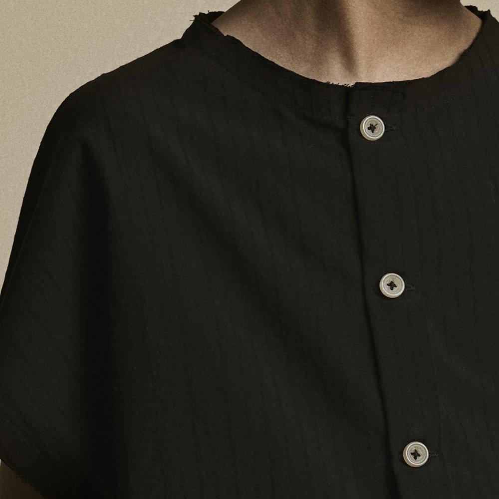 【20%OFF】Crushed Cotton Shirt Black img3