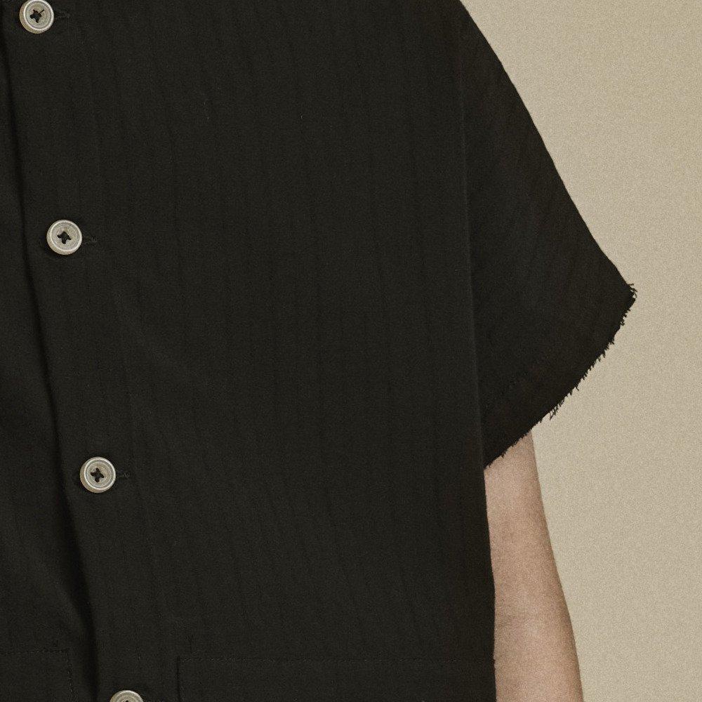 【20%OFF】Crushed Cotton Shirt Black img4