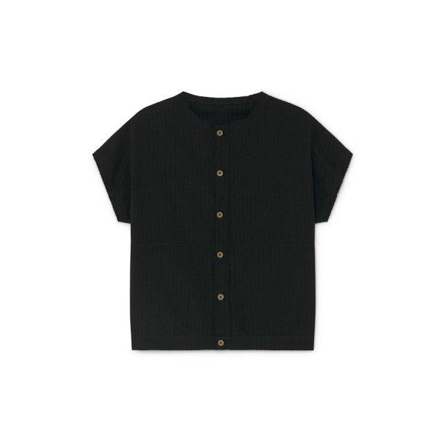 【20%OFF】Crushed Cotton Shirt Black img7