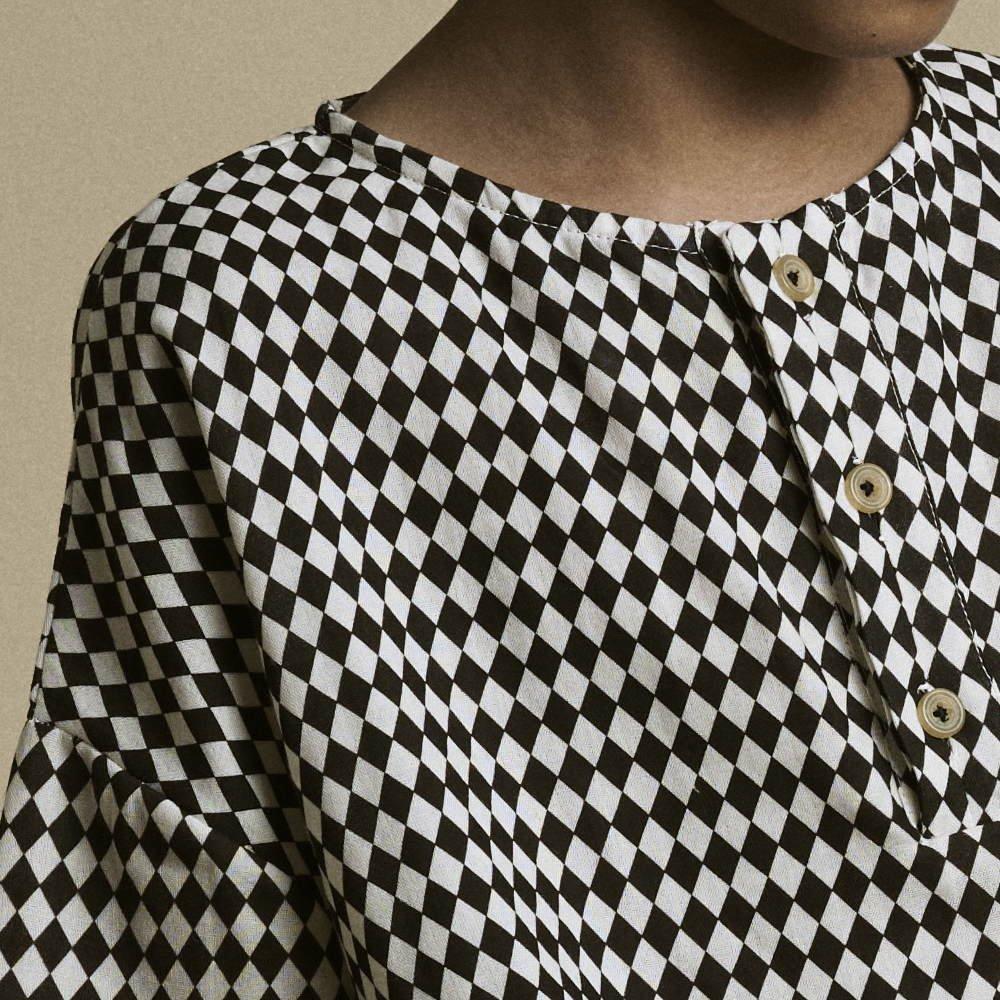 【2月末発送予定】Tiny Diamond Shirt Black img1