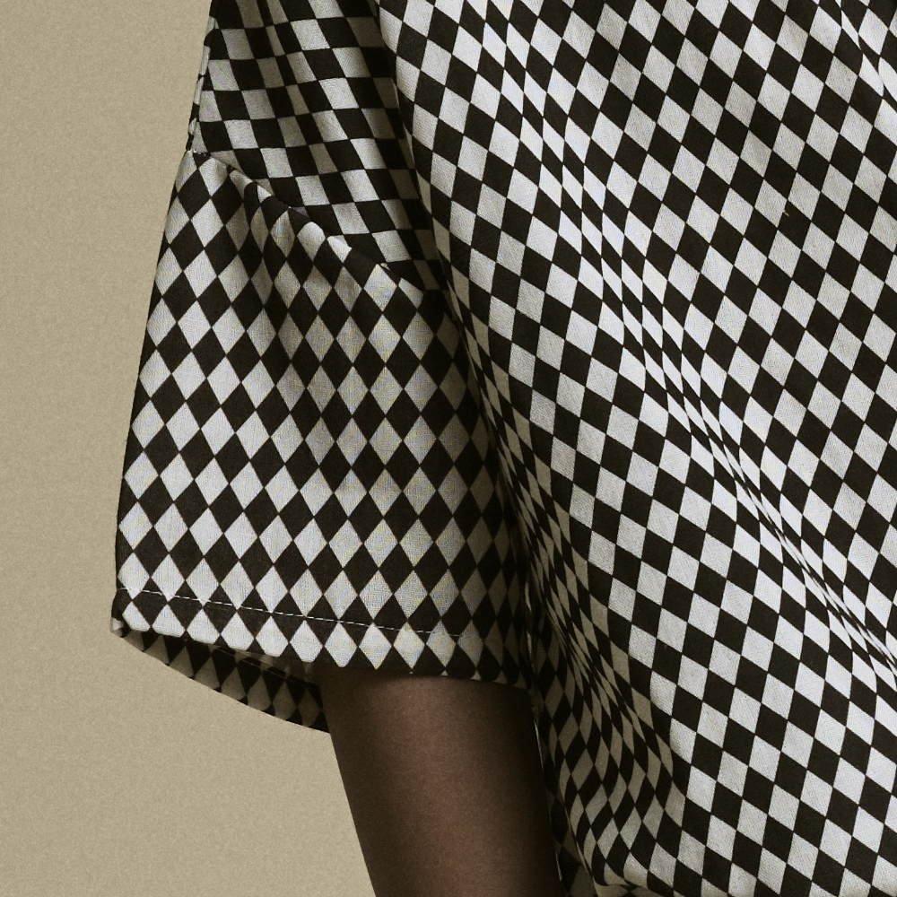 【2月末発送予定】Tiny Diamond Shirt Black img2