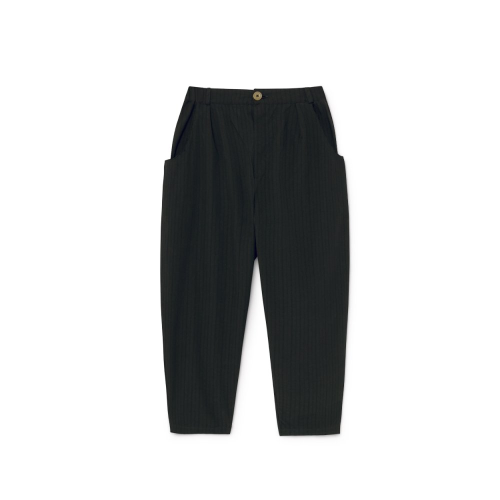 Crushed Cotton Trousers Black img5