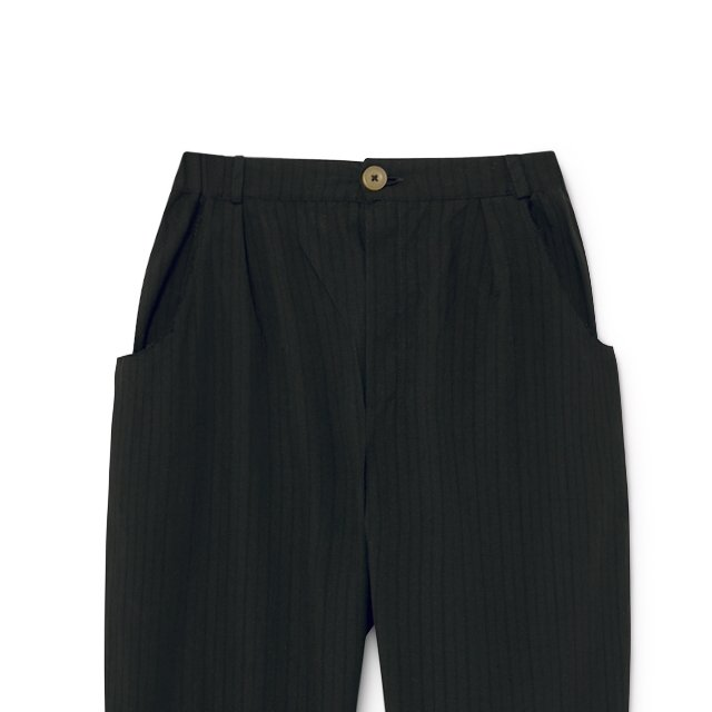 Crushed Cotton Trousers Black img6