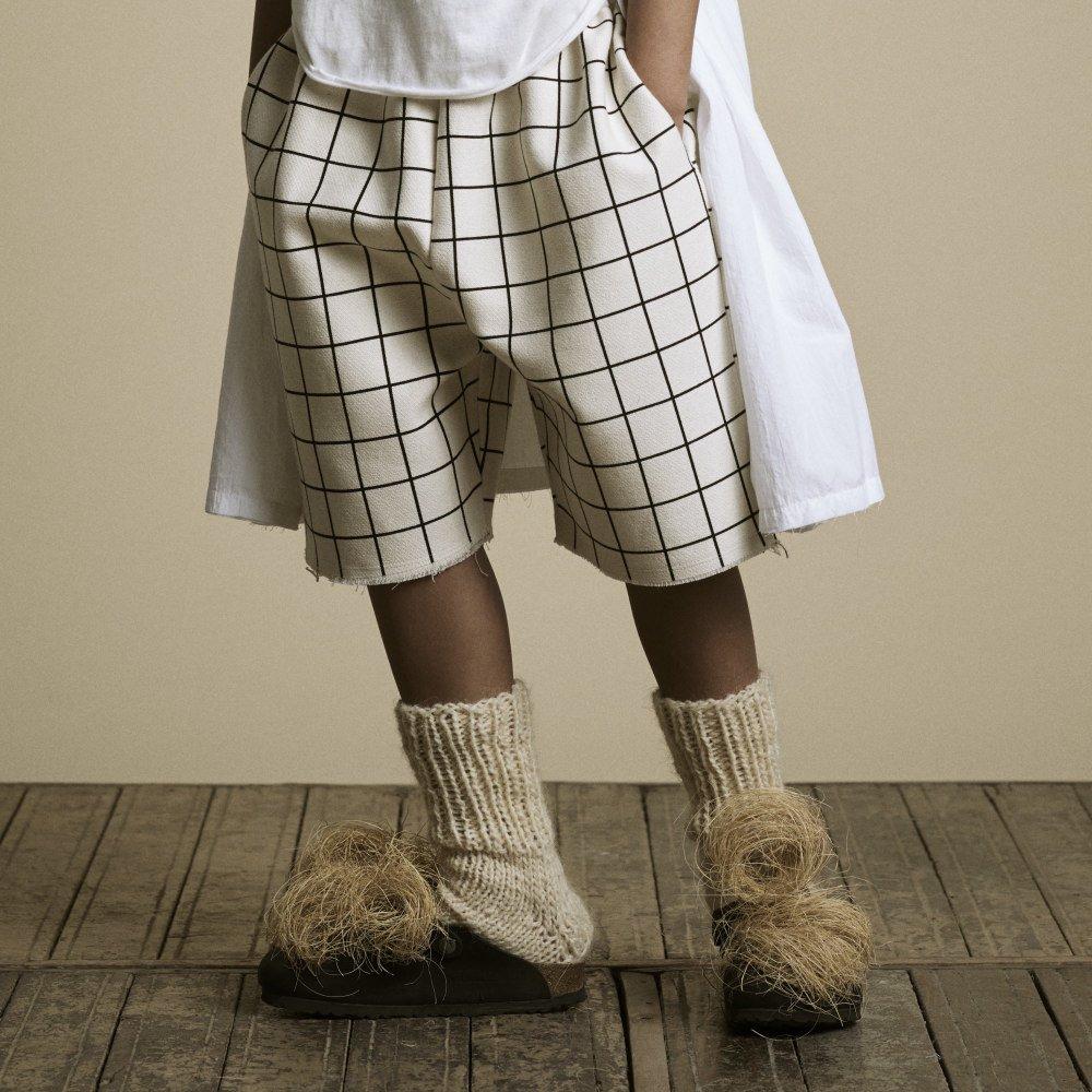 【2月末発送予定】Plaid Shorts Pants Cream img