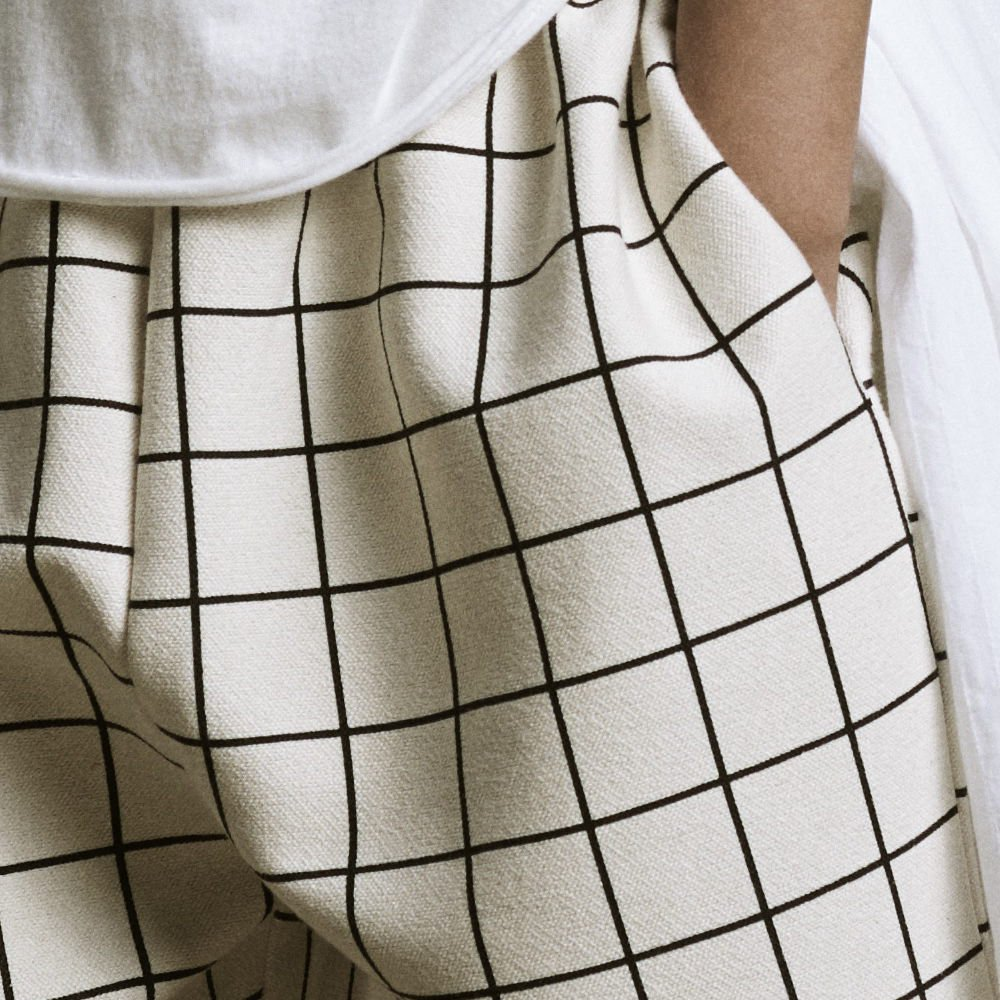 【40%OFF】Plaid Shorts Pants Cream img1
