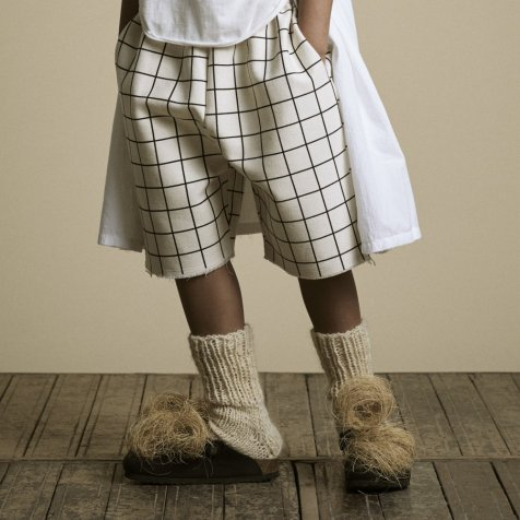 【30%OFF】Plaid Shorts Pants Cream