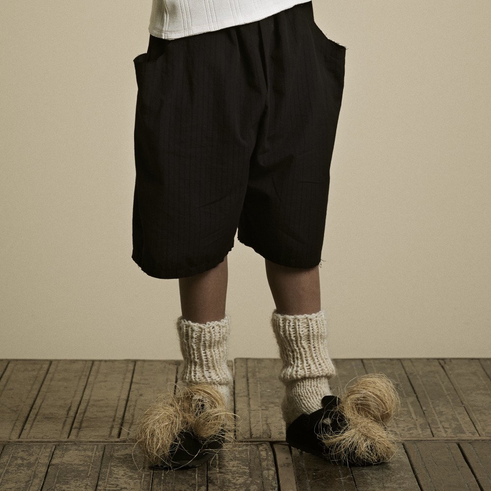 【2月末発送予定】Crushed Cotton Shorts Black img