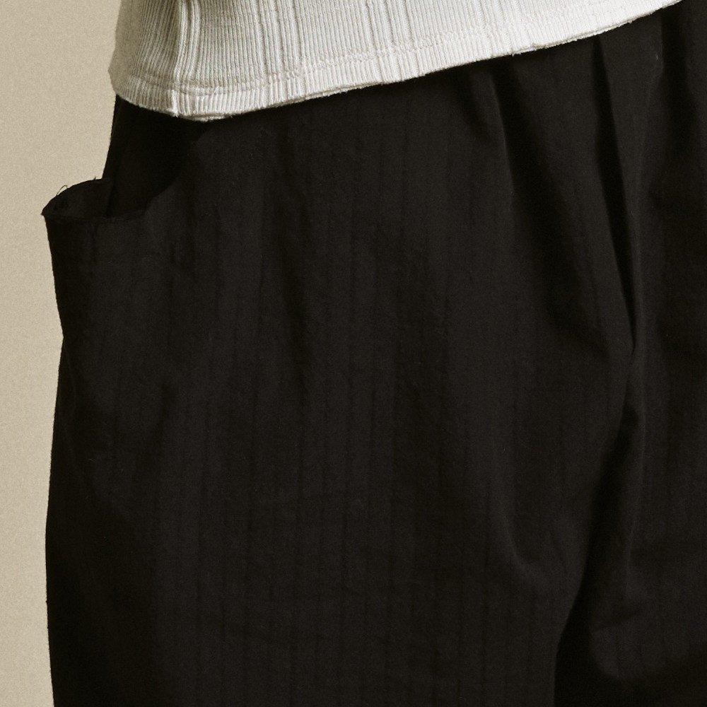 【2月末発送予定】Crushed Cotton Shorts Black img1