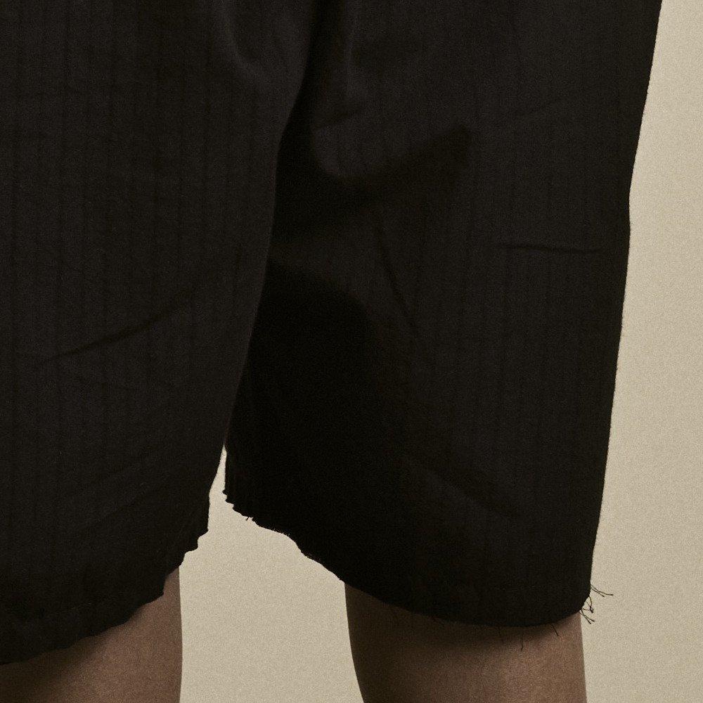 【2月末発送予定】Crushed Cotton Shorts Black img2