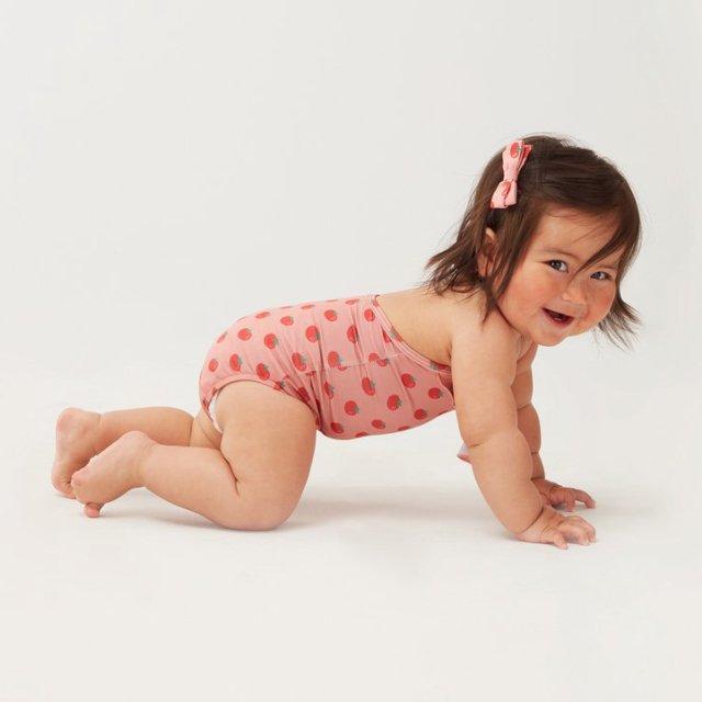 【40%OFF】ruffle halter swimsuit tomato print img3