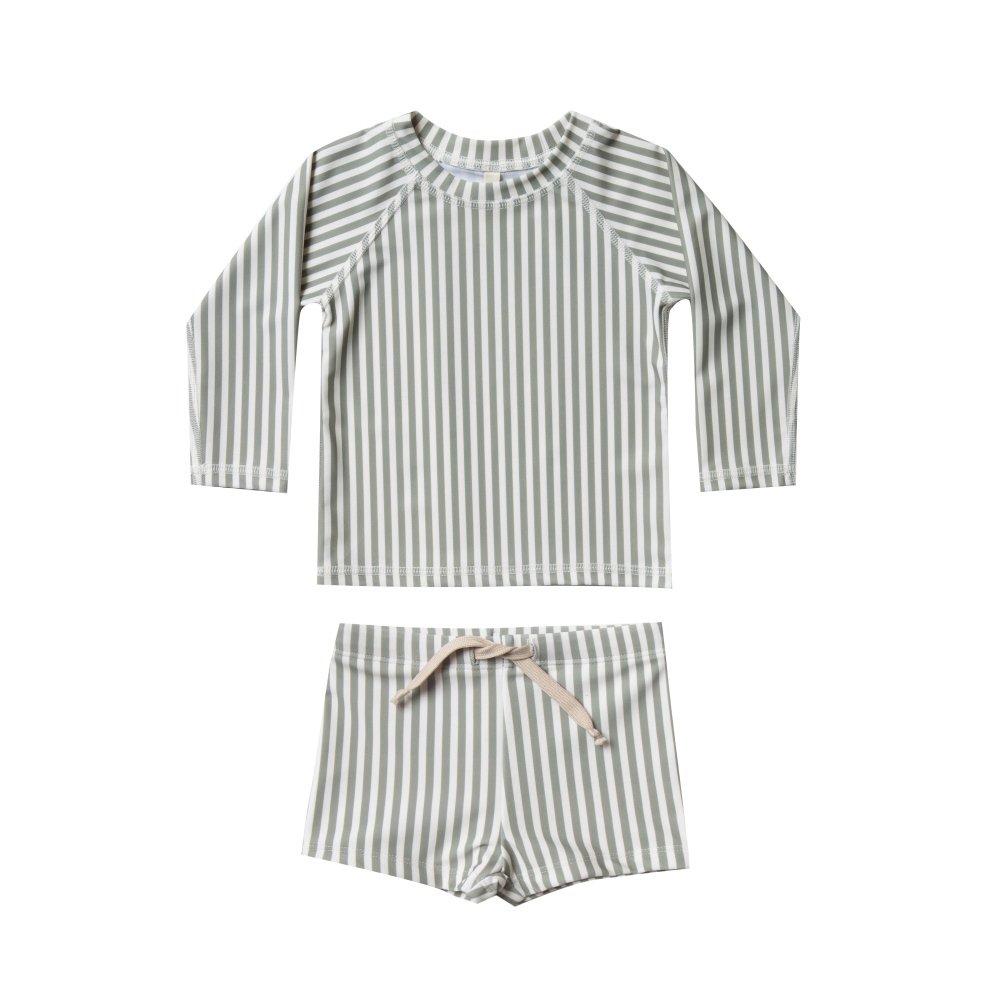 【40%OFF】stripe rashguard swim set img