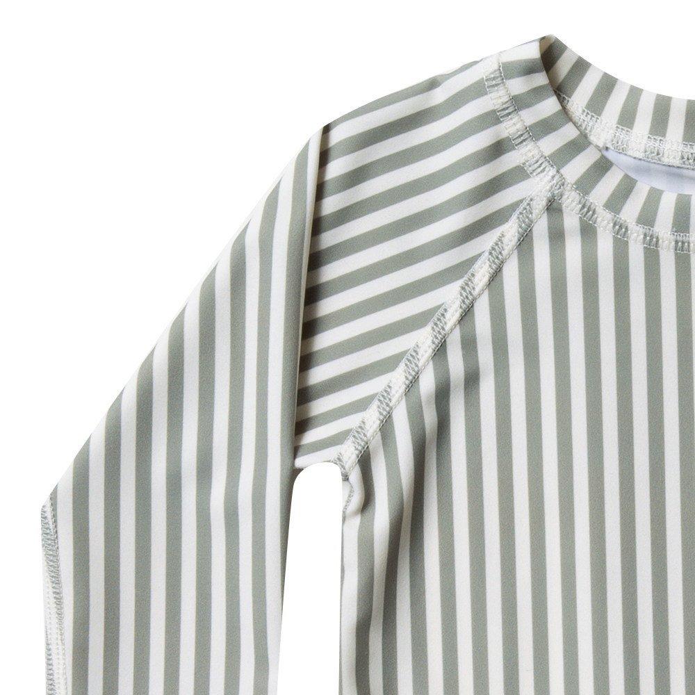 【40%OFF】stripe rashguard swim set img1