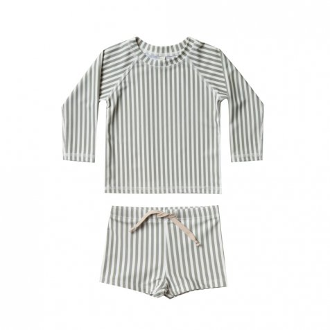 【20%OFF】stripe rashguard swim set