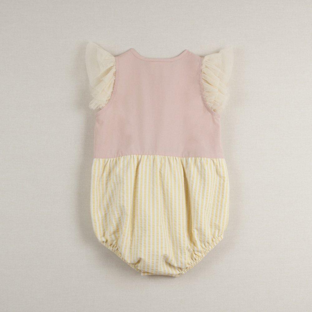 【40%OFF】Pink cutaway sleeve romper suit img2