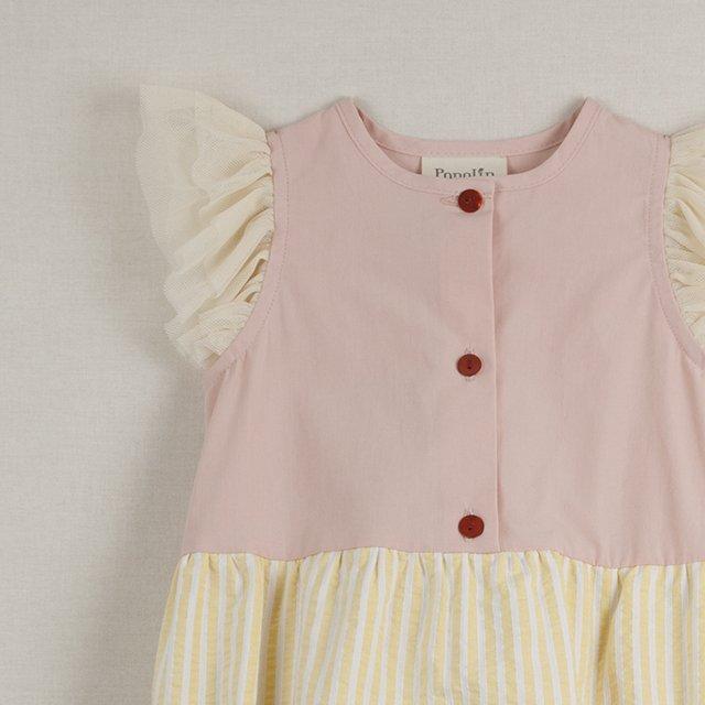 【40%OFF】Pink cutaway sleeve romper suit img3