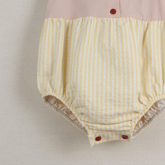 【40%OFF】Pink cutaway sleeve romper suit img4