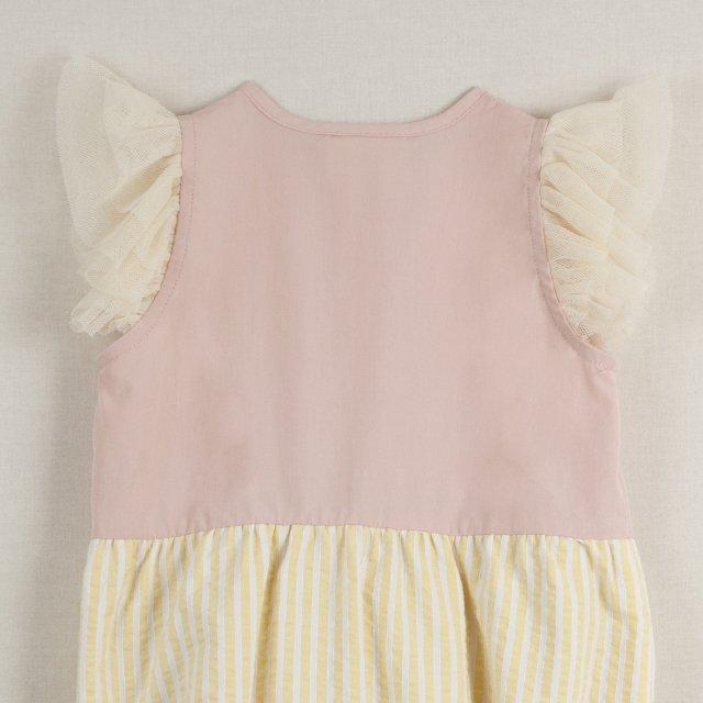 【40%OFF】Pink cutaway sleeve romper suit img5