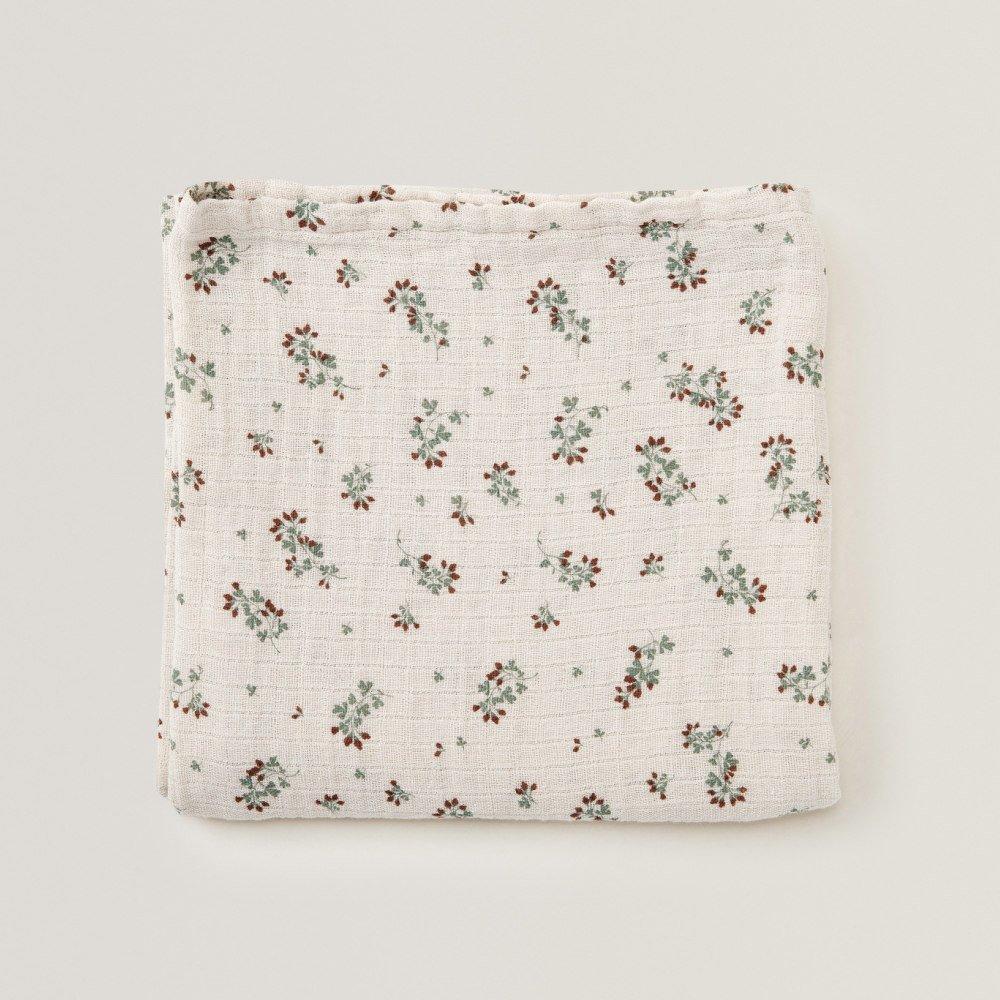 Clover Muslin Swaddle Blanket img