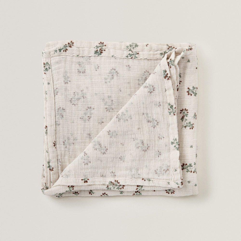 Clover Muslin Swaddle Blanket img1