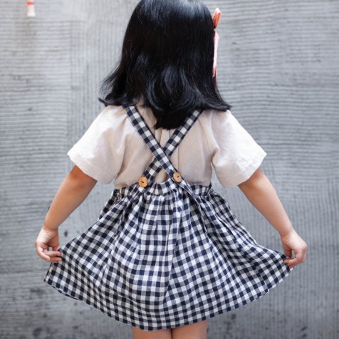 【17日14時販売開始】Eloise Pinafore Gingham