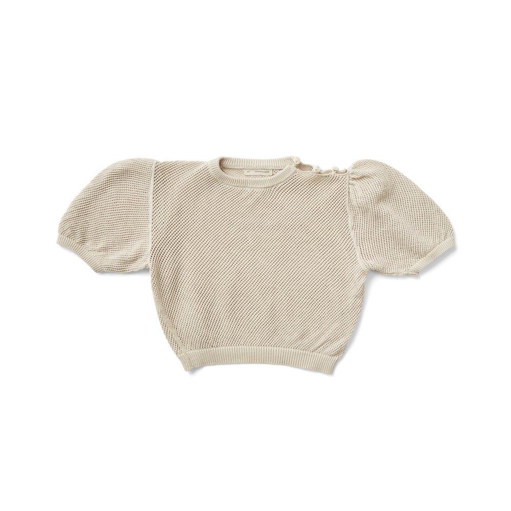 Mimi Knit Top Milk img1