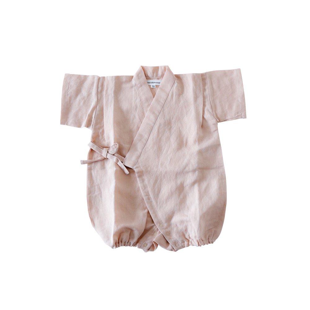 Linen Jinbei Rompers Pink img