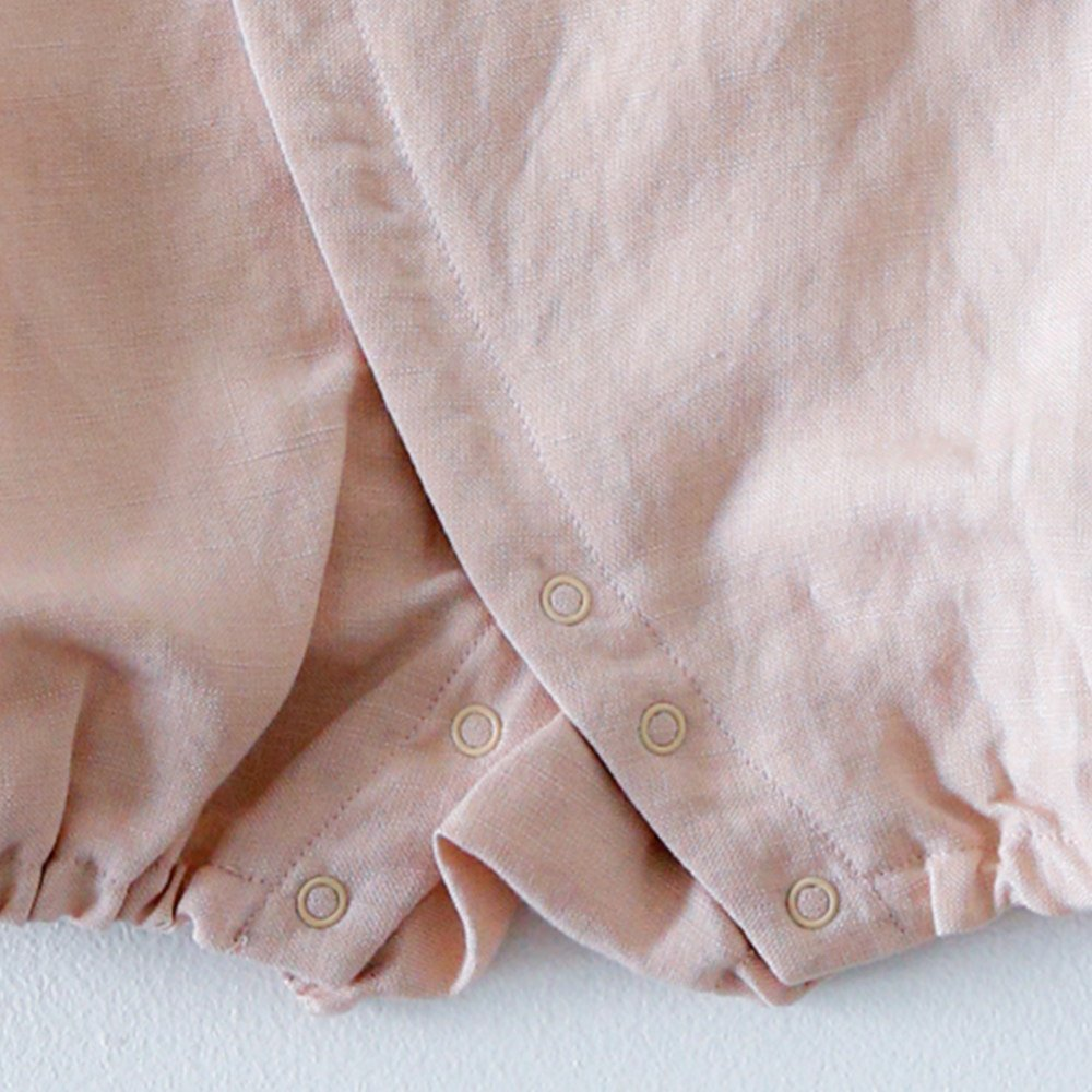 Linen Jinbei Rompers Pink img4