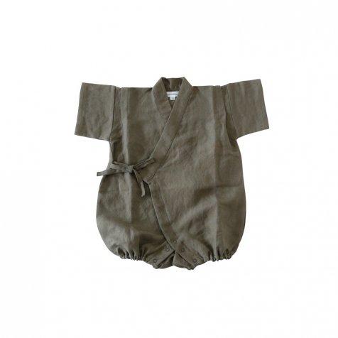 【20%OFF】Linen Jinbei Rompers Khaki