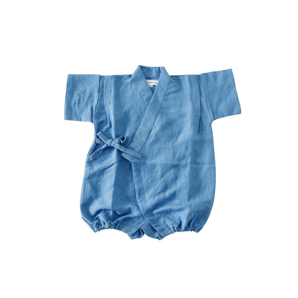 Linen Jinbei Rompers Blue img
