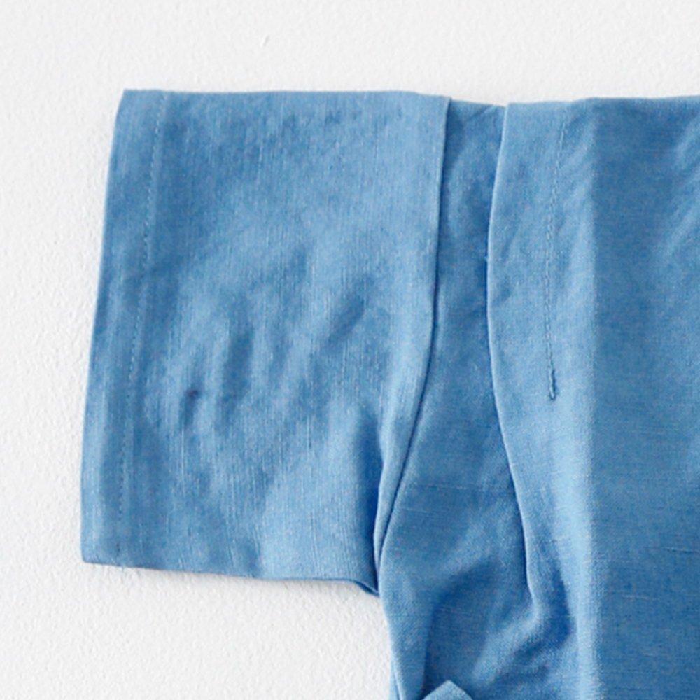 Linen Jinbei Rompers Blue img2