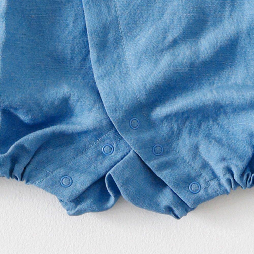 Linen Jinbei Rompers Blue img4
