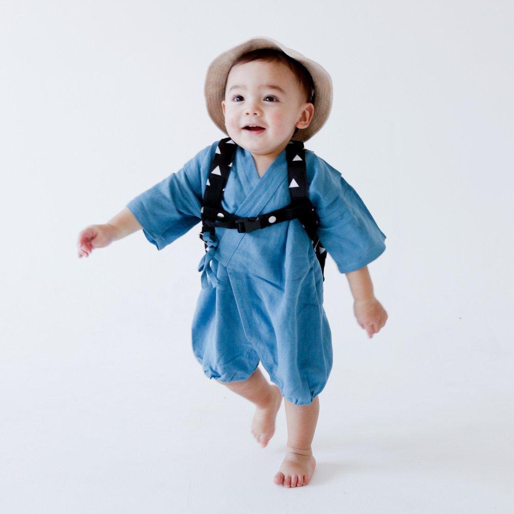 Linen Jinbei Rompers Blue img8