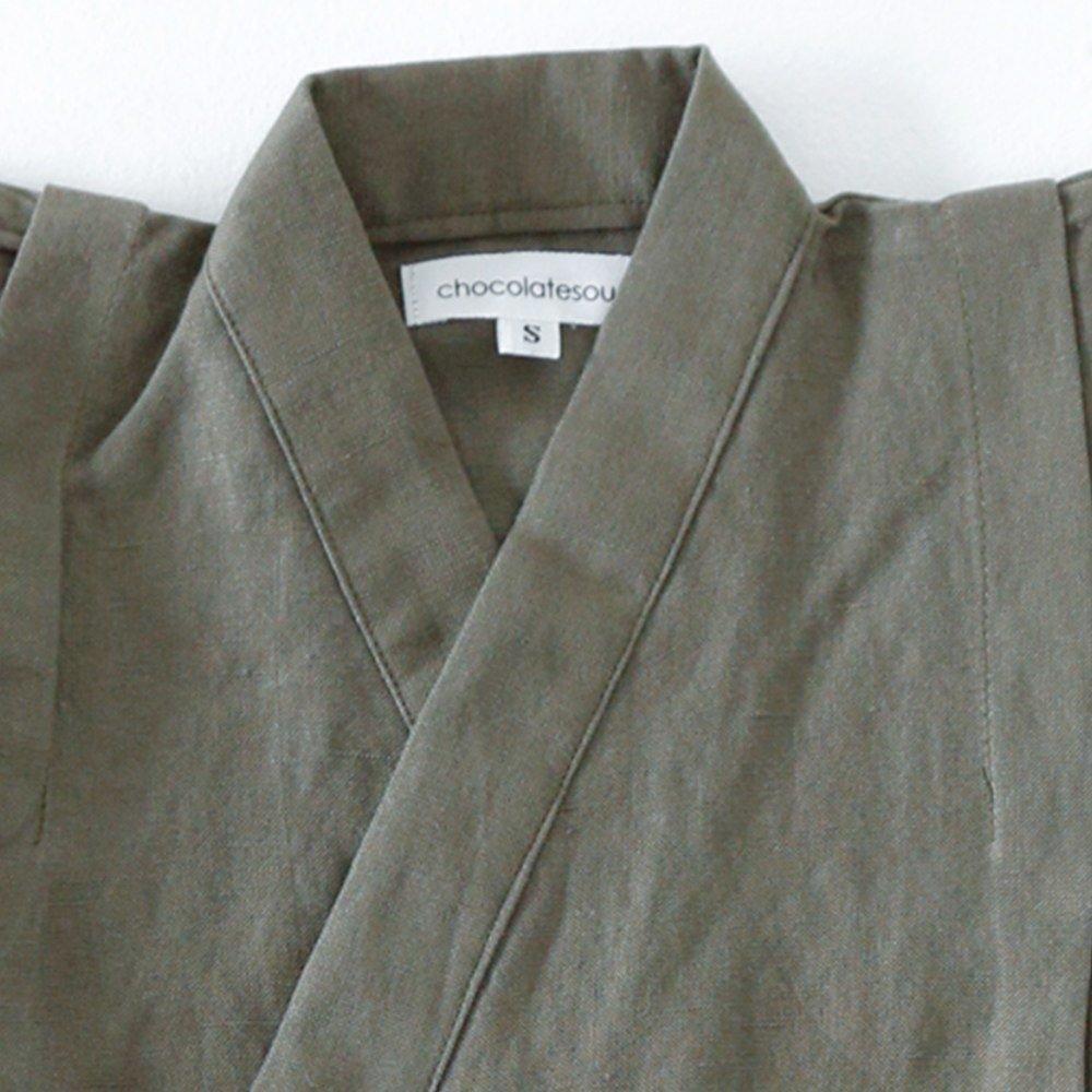 Linen Jinbei Separate Khaki img1