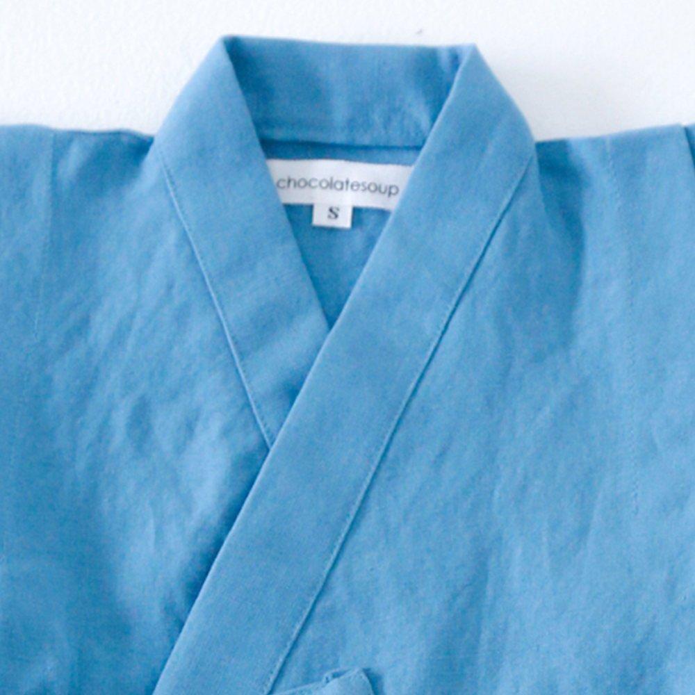 【40%OFF】Linen Jinbei Separate Blue img1