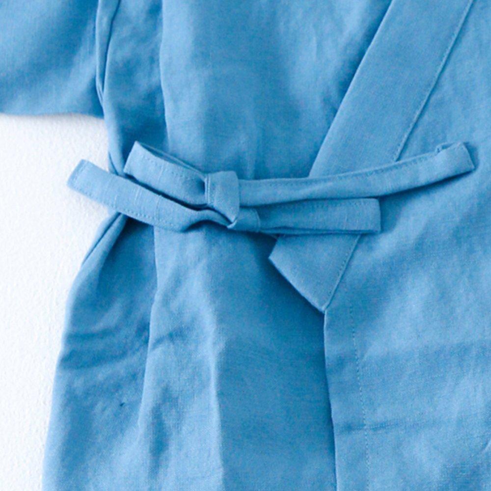 【40%OFF】Linen Jinbei Separate Blue img3
