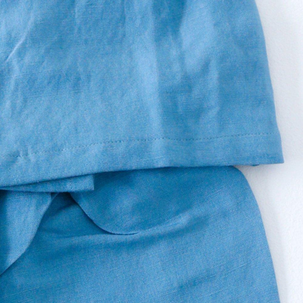 【40%OFF】Linen Jinbei Separate Blue img5