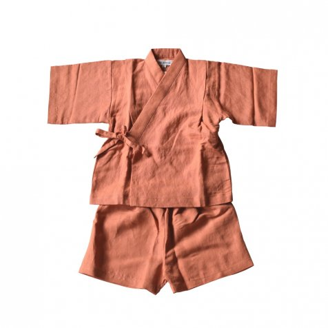 【20%OFF】Linen Jinbei Separate Terra Cotta