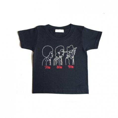 70s 80s 90s T-Shirt black