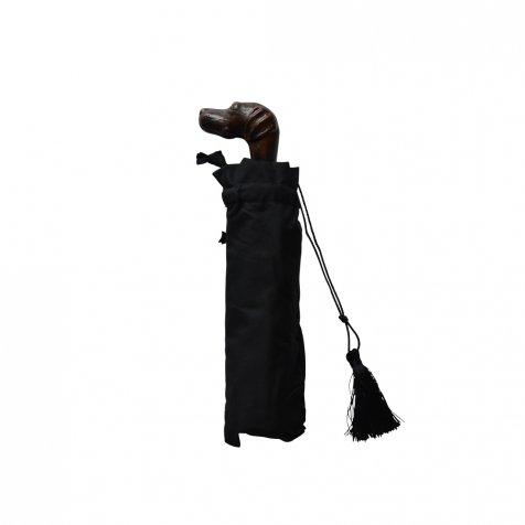 folding umbrella 晴雨兼用折りたたみ傘 dog noir