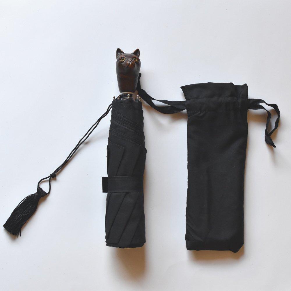 folding umbrella 晴雨兼用折りたたみ傘 cat noir img1