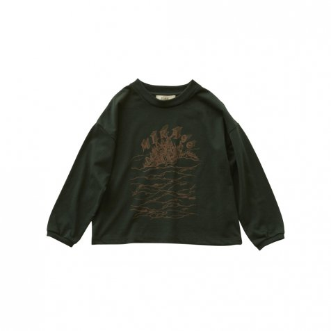MIRAgE town long sleeve-T dark green