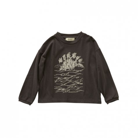 MIRAgE town long sleeve-T charcoal