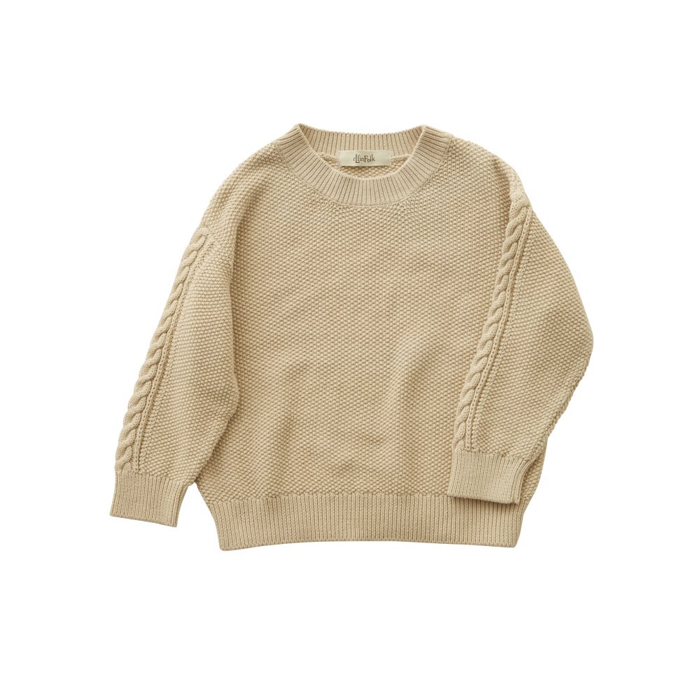 moss stitch sweater ivory img