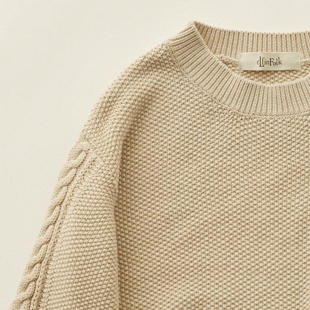 moss stitch sweater ivory img1