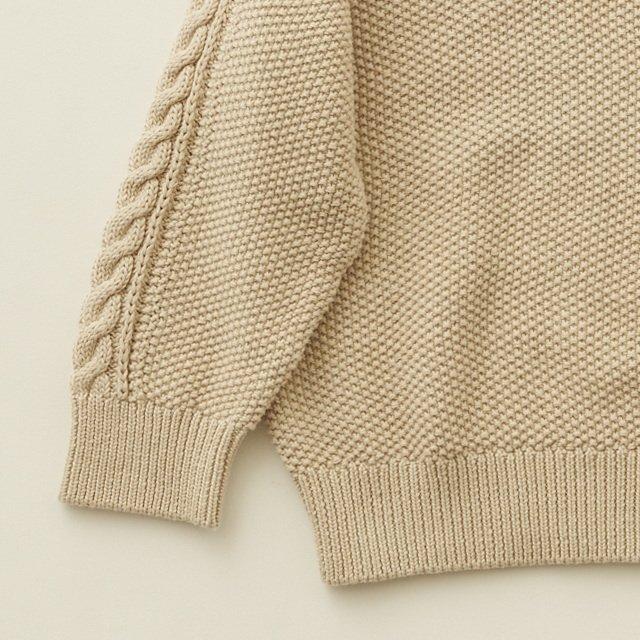 moss stitch sweater ivory img2