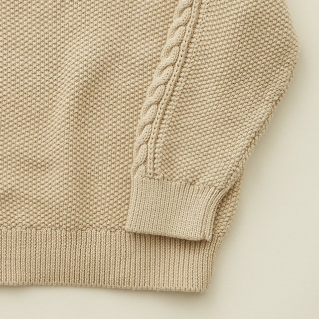 【20%OFF】moss stitch sweater ivory img3