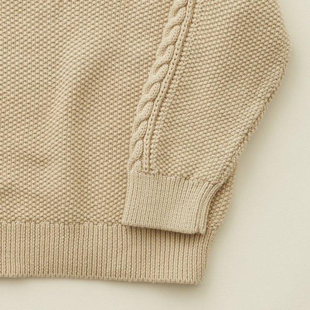 moss stitch sweater ivory img3