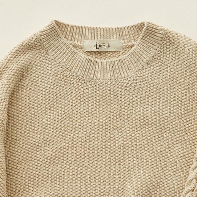 moss stitch sweater ivory img4